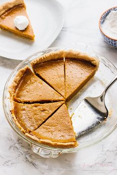 This Vegan Pumpkin Pie is made with all natural healthy ingredients! It's refined-sugar free, gluten free and bakes JUST like classic pumpkin pie!
