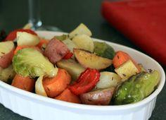 la forma de asar verduras