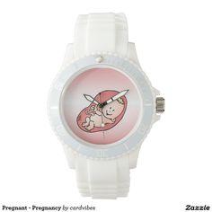 Pregnant - Pregnancy Wristwatch. #Zazzle #Cardvibes #Tekenaartje #baby #maternity #SOLD