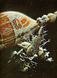 CHRIS FOSS - art for Orbit 4 edit Damon Knight - 1972 Panther Books