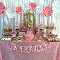 Pink and Gold Baby Shower Baby Shower Party Ideas | Photo 4 of 7