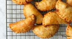 Beef Empanadas - Easy to make with pie crust. Make them, freeze them, then bake them whenever for parties, or whatever you like.