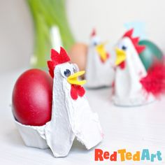 Easy and cute Easter crafts Ideas for kids, include heart designs, floral tattoos and more. There have bunny paper cut, Easter eggs painting, crochet and so on. Educational Activities For Kids, Easter Activities, Toddler Activities, Box Creative, Paper Folding Crafts, Chicken Crafts, Egg Carton Crafts, Cup Crafts, Easter Table Decorations