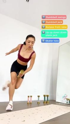 This total body workout with weights is a great way to work on getting rid of fat while getting toned arms, lean legs, and visible abs! Tap through to do the 21 day tone challenge and get a full workout challenge calendar plus videos and guides to help you do the moves from Blogilates. Complete Ab Workout, Full Body Gym Workout, Lower Belly Workout, Workout For Flat Stomach, Butt Workout, Best Workout For Women, Fitness Workout For Women, Cardio Pilates, Cardio Routine