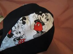 Mickey or Mickey & Minnie Mouse doo rag, Double fabric headband and tail. Motorcycle, Disney, biker, rider, cancer, chemo gift.