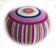 stripe pouf