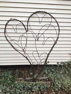 Junque Barbed Wire Heart Trellis