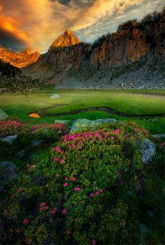 First lights - The Pyrenees, Spain