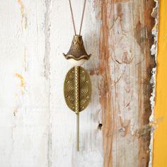 Sautoir °Aromathérapie° Zoen  Bijoux à parfumer - Perle de bois interchangeable (pour varier les senteurs/bienfaits) - Taille réglable du ras de cou au sautoir