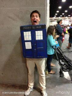 John Barrowman as a TARDIS. Enough said.