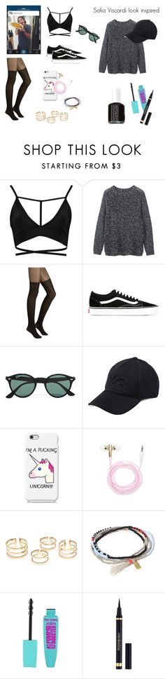 """Popular youtuber in italy sofia viscardi look inspired"" by gioppins ❤ liked on Polyvore featuring Toast, Vans, Ray-Ban, Y-3, Nexus, Forever 21, Yves Saint Laurent and Essie"