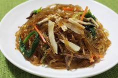 잡채 Korean JapChae Recipe. Glass Noodle