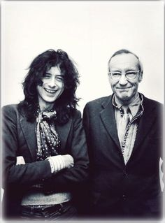 Jimmy Page and William Burroughs