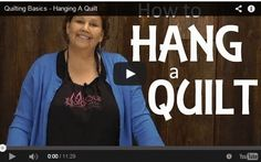 How to Hang a Quilt for Display : Completing a quilting project is a great feeling and planning and starting another one is just as exciting! Once you have made several and are starting to really good about your creativity, perhaps you might consider making a quilt for display. Thanks to Missouri Quilt Company