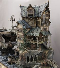 The Ultimate Guide in Toy Train Collections Medieval Houses, Medieval Town, Medieval Fantasy, Miniature Houses, Hirst Arts, Warhammer Terrain, Free To Use Images, Halloween Village, Old Houses