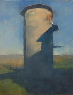 Frank Hobbs: Silo, oil on canvas, 20 x 16 in.