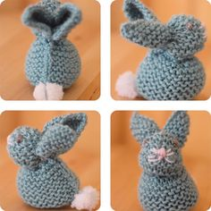 Too cute! Knit a Bunny from a Square with this easy stitch pattern by Studio Knit. Celebrate Springtime and Easter with this little bunny rabbit easily shaped from a simple knitted square. # Free Knitting Videos Knit a Bunny from a Square Easy Knitting Patterns, Knitting Stitches, Free Knitting, Baby Knitting, Stitch Patterns, Crochet Patterns, Simple Knitting Projects, Sewing Projects, Amigurumi Patterns