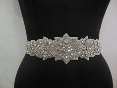 Bridal Wedding Dress Rhinestones Beaded Crystal by CrestnCrew