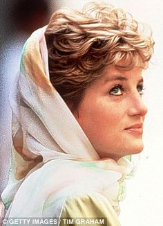 with just a scarf showing, you know there is an unique style of Princess Diana below it