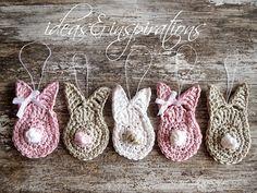 Ideas and Inspirations: DIY Häkelhasen * crochet bunnys