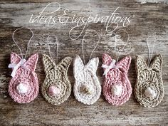 Ideas and Inspirations: DIY Häkelhasen * crochet bunnys