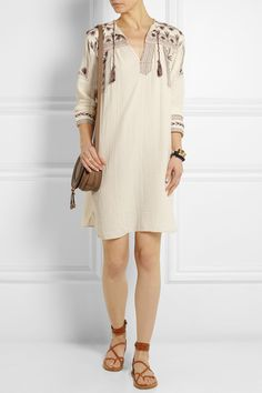 Étoile Isabel Marant | Viola embroidered cotton-muslin dress | NET-A-PORTER.COM