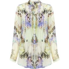 ETRO Floral Silk Shirt ($680) found on Polyvore