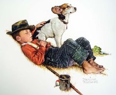Norman Rockwell painting for nursery