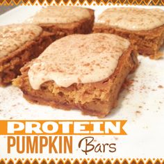 Jamie Eason Pumpkin Protein Bars {Clean Eating} « Made with Love Made with Love. Good after school snack Protein Snacks, Clean Protein Bars, Protein Desserts, High Protein, Low Calorie Protein Bars, Arbonne Protein Bars, Protein Waffles, Protein Cake, Protein Power