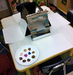 Preparing for self portraits - from provocations and play