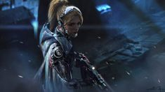 by Yang Liu (artist by artstation). Cyberpunk Girl, Cyberpunk Character, Cyberpunk 2077, Troll, High Tech Low Life, Steampunk, Culture Pop, Future Soldier, Wallpaper Gallery