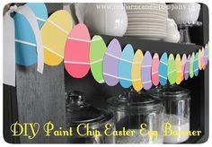 Paint Chip Easter Egg Banner or could make Easter egg door decs