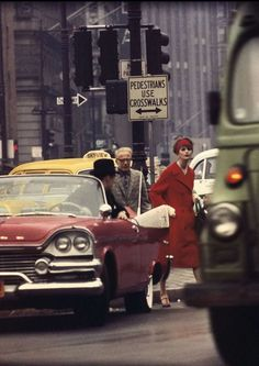 View Anne Ste Marie Cruiser in Traf c, New York Vogue, 1962 by William Klein on artnet. Browse more artworks William Klein from Polka Galerie. Color Photography, Vintage Photography, Street Photography, Fashion Photography, Female Photography, Photography Composition, Photography Lessons, Glamour Photography, Photography Magazine