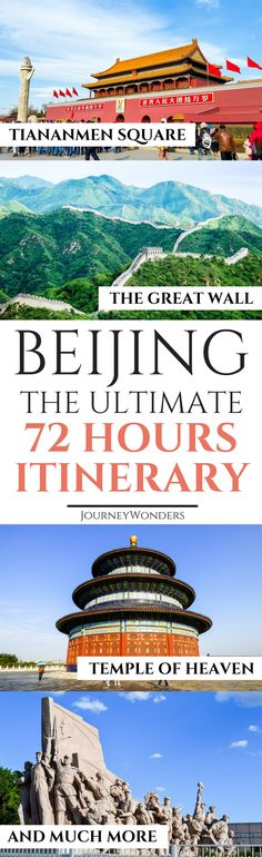 72 Hours in Beijing is the ideal time to explore the highlights of this wonderful city including the Great Wall of China. Check out this 72 Hours in Beijing Itinerary about the best things to do and see in #Beijing #China #BeijingItinerary