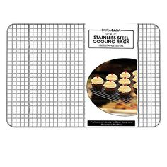 """Baking Rack - Cooling Rack - Stainless Steel 304 Grade Roasting Rack - Heavy Duty Oven Safe, Commercial Quality Cooling Racks For Baking - Metal Wire Grid Rack Design - Lifetime Guarantee (10"""" X 15"""") ** To view further for this item, visit the image link."""