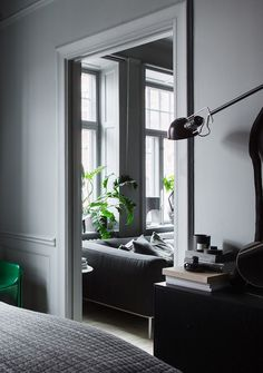 The Dark and Cocoon-like Home of Stylist Lotta Agaton