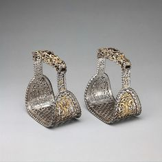 Pair of Stirrups (Yob) Date: possibly 12th–14th century Culture: Tibetan or Mongolian Medium: Iron, gold, silver
