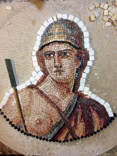 STONE FOLIO MOSAICS - The making of 'The personification of Roma'