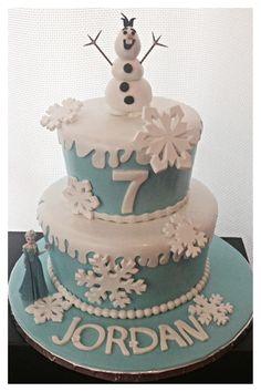 Disney Frozen birthday cake!