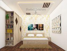 Living Room Partition Design, Room Partition Designs, Bedroom False Ceiling Design, Design Bedroom, Bed Design, Brown Decor, Bedroom Interiors, Bb, Shelves