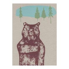 Hand pulled screen printed paper goods and original paintings by artist Julia Ogden. Artwork inspired by nature and landscapes. Bear Card, Paper Goods, Brave, Screen Printing, Moose Art, Original Paintings, Greeting Cards, Artist, Artwork