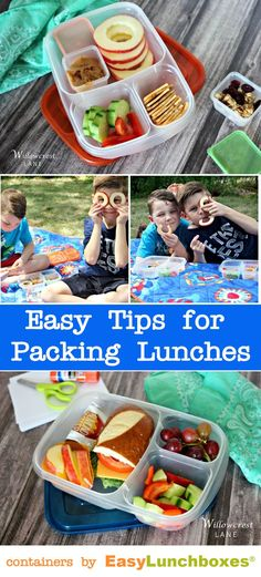 Easy Tips for Packing Lunches. Containers by @easylunchboxes