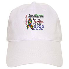 CafePress - For Our Family 3 Autism - Baseball Cap with Adjustable Closure, Unique Printed Baseball Hat CafePress brings your passions to life with the perfect item for every occasion. With thousands of designs to choose from, you are certain to find the...