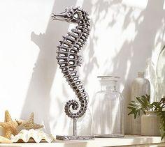 Ouddoor Seahorse #potterybarn