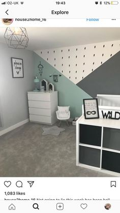 Nursery Decorating Ideas - Baby Room Design For Chic Parent DIY geometrische W. - Nursery Decorating Ideas – Baby Room Design For Chic Parent DIY geometrische W… Nursery Decorating Ideas – Baby Room Design For Chic Parent DIY geometrische Wandmuster – – Baby Bedroom, Baby Boy Rooms, Baby Room Decor, Nursery Room, Bedroom Wall, Bedroom Decor, Nursery Ideas, Boy Toddler Bedroom, Bed Room