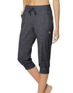 Champion Women's Jersey Banded Knee Pant, Granite Heather, Medium - http://trainingclothingforwomen.shopping-craze.com/index.php/2016/04/09/champion-womens-jersey-banded-knee-pant-granite-heather-medium/