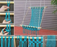 You will love to make yourself a gorgeous Macrame Hanging Chair and it& so easy when you know how. Check out the Knitted Swinging Chair Cocoon too.Macrame Crochet Hammock also crochet hanging cacoon swingDIY Crocheted Hammock na Makrama - Zszywka. Crochet Hammock, Diy Hammock, Diy Crochet, Hammock Ideas, Hammocks, Hammock Swing, Rope Hammock, Diy Swing, Indoor Hammock