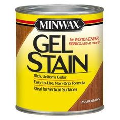 Minwax Gel Stain Hickory Oil-Based Interior Stain (Actual Net Contents: oz) at Lowe's. Minwax Gel Stain is specifically designed to give you full control over the staining process and help you achieve beautiful results. Minwax Gel Stain, Wooden Garage Doors, Wood Doors, Metal Doors, Pine Doors, Wood Windows, Entry Doors, Barn Doors, Entrance