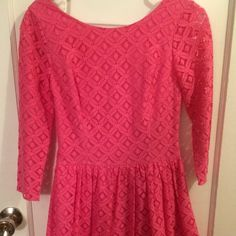 HP 9/11/15Lilly Pulitzer Pink Lace Lori Dress Never worn, excellent condition Lilly Pulitzer Dresses