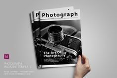 Photograph Magazine Template by bookrak on @creativework247